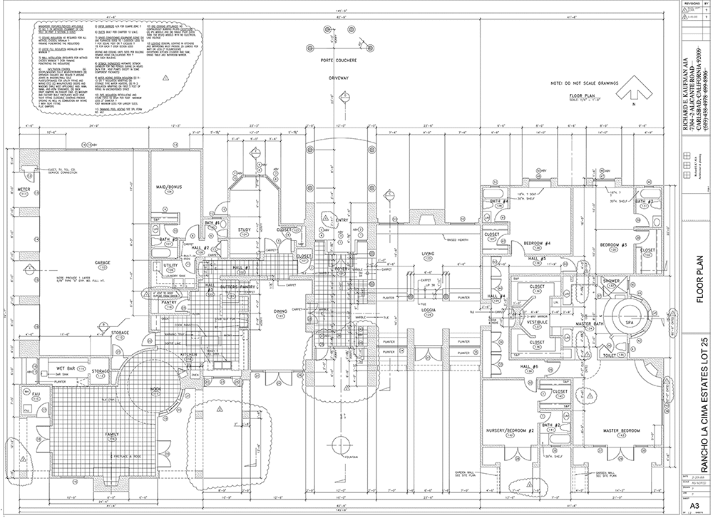 Convert To Autocad Del Mar Blue Print